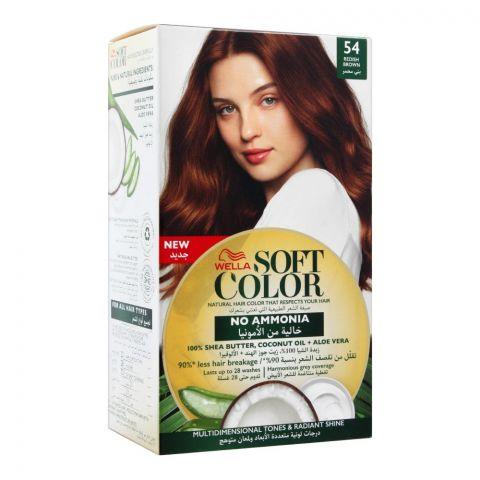 Wella Soft Color No Ammonia Hair Color, 54 Redish Brown