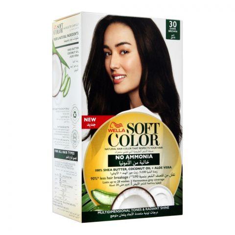 Wella Soft Color No Ammonia Hair Color, 30 Dark Brown