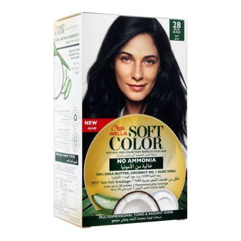 Wella Soft Color No Ammonia Hair Color, 28 Blue Black