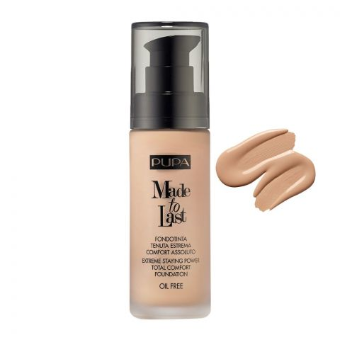 Pupa Milano Made To Last Extreme Styling Power Total Comfort Foundation, Oil Free, 030