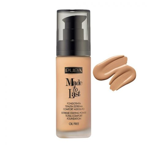 Pupa Milano Made To Last Extreme Styling Power Total Comfort Foundation, Oil Free, 050