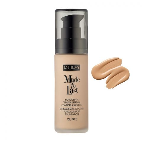 Pupa Milano Made To Last Extreme Styling Power Total Comfort Foundation, Oil Free, 002