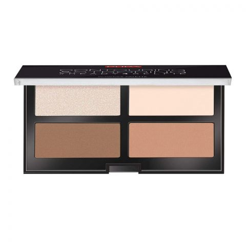 Pupa Milano Contouring & Strobing Ready 4 Selfie Powder Palette, 001 Light Skin