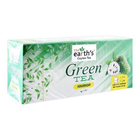 The Earth's Green Tea, Soursop, 25 Tea Bags