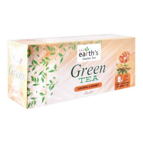 The Earth's Green Tea, Ginseng & Honey, 25 Tea Bags