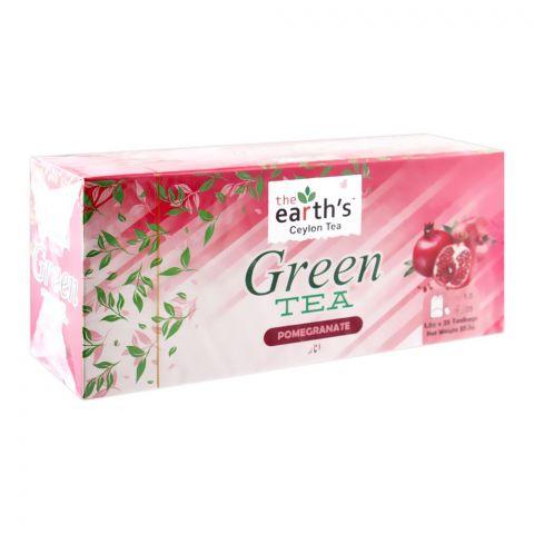 The Earth's Green Tea, Pomegranate, 25 Tea Bags