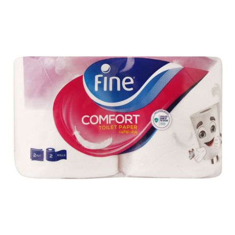 Fine Comfort Toilet Tissue Rolls, 160x2ply