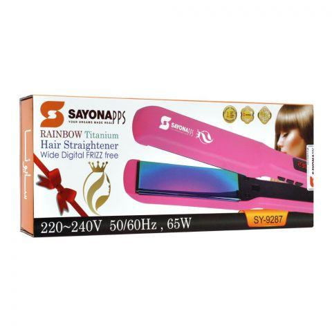 Sayona Rainbow Titanium Hair Straightener, 65W, SY-9287