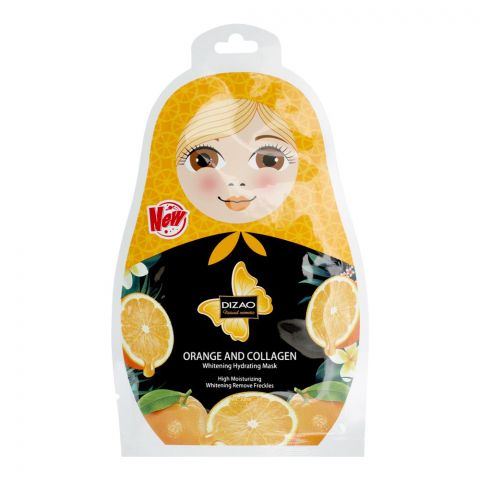 Dizao Orange And Collagen Whitening Hydrating Face Mask, 30ml
