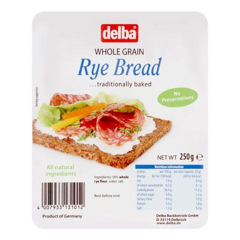 Delba Whole Grain Rye Bread, 250g
