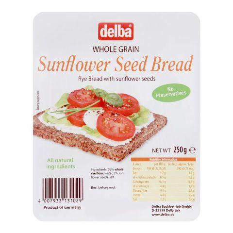 Delba Whole Grain Sunflower Seed Bread, 250g