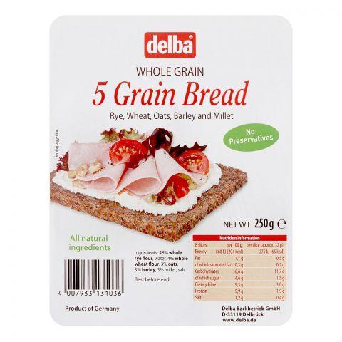 Delba Whole Grain 5 Grain Bread, 250g