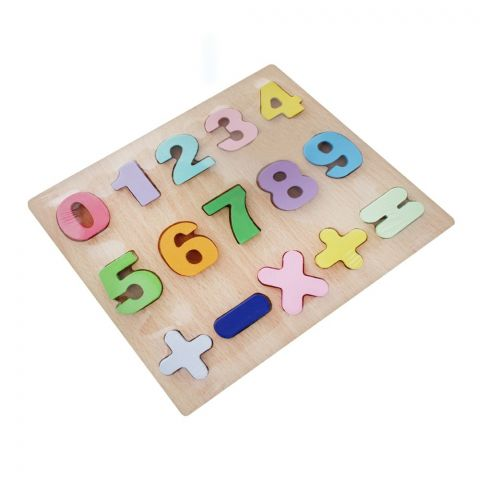 Live Long Wooden 3D Number Puzzle Board, 2445-13