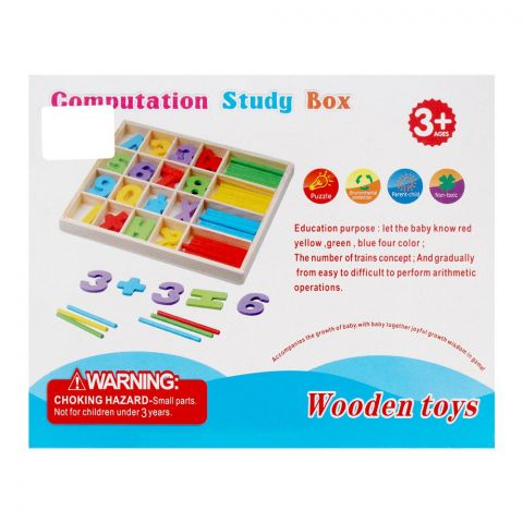 Live Long Wooden Computing Study Box, 899-2
