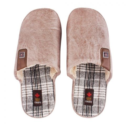 Women's Slippers, H-10, Brown