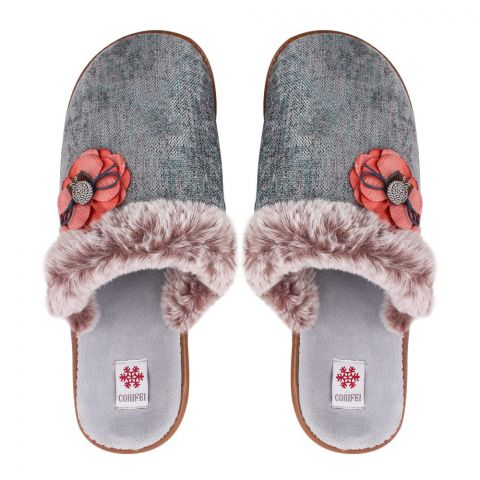 Women's Slippers, H-12, Grey