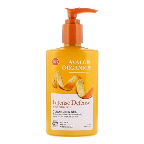 Avalon Organics Intense Defence Vitamin C Cleansing Gel, Sulfate Free, 251ml