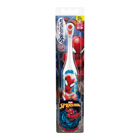 Arm & Hammer Marvel Spiderman Kids Electric Spinbrush Toothbrush, Soft