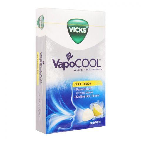 Vicks Vapo Cool Lemon Drops, 20-Pack