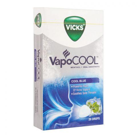 Vicks Vapo Cool Blue Menthol Drops, 20-Pack
