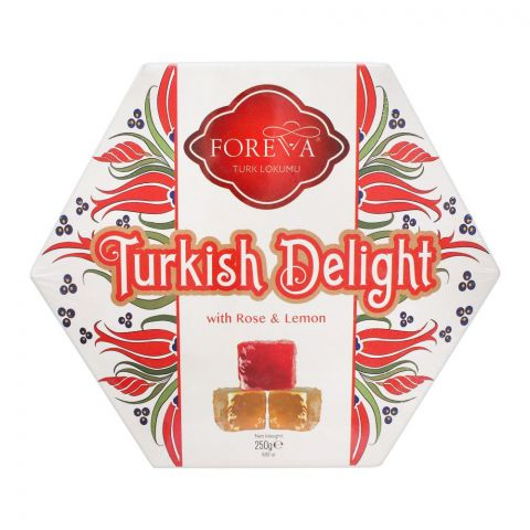 Foreva Turkish Delight With Rose & Lemon, 250g, LOK-6018