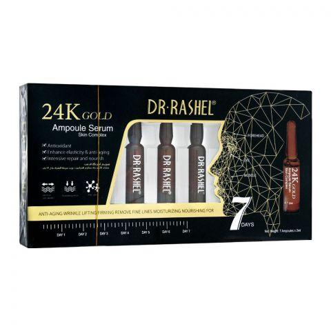 Dr. Rashel 24K Gold 7-Days Ampoule Serum, Skin Complex, 7x2ml