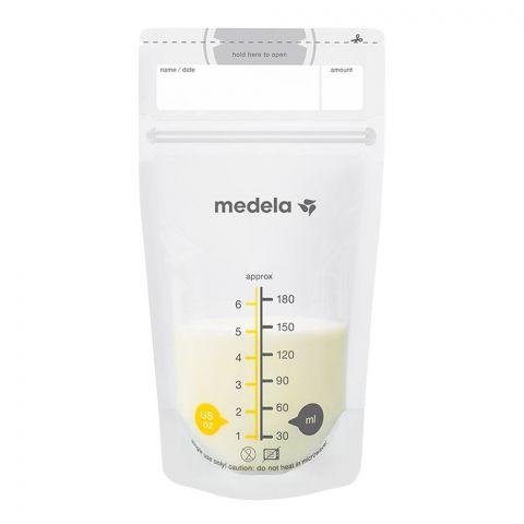 Medela Breast Milk Storage Bags, 180ml, 25-Pack