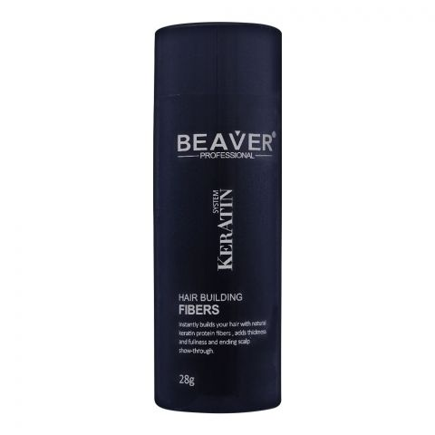 Beaver Keratin System Hair Building Fibers, Dark Brown, 28g
