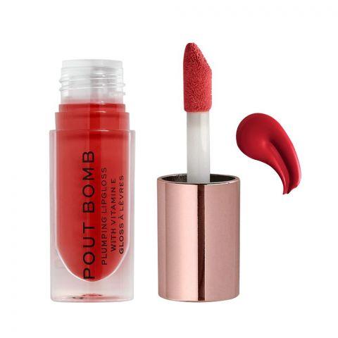 Makeup Revolution Pout Bomb Plumping Lip Gloss, Juicy