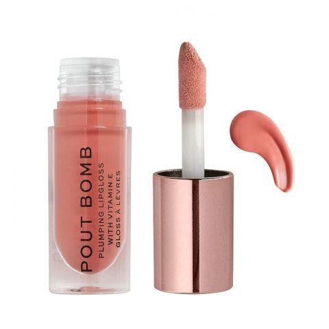 Makeup Revolution Pout Bomb Plumping Lip Gloss, Kiss
