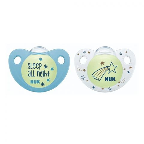 Nuk Trendline Night Silicone Soother, 0-6m, 10730043