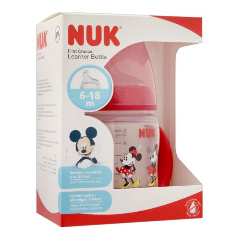 Nuk First Choice Disney Baby Mickey Mouse Learner Bottle, 6-18m, 150ml, 10215259