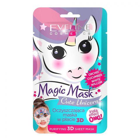 Eveline Cute Unicorn Orchid Cucumber Purifying 3D Magic Sheet Mask