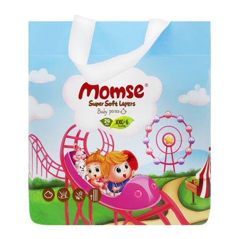 Momse Baby Pants, XXL-6, 15+ KG, 24-Pack