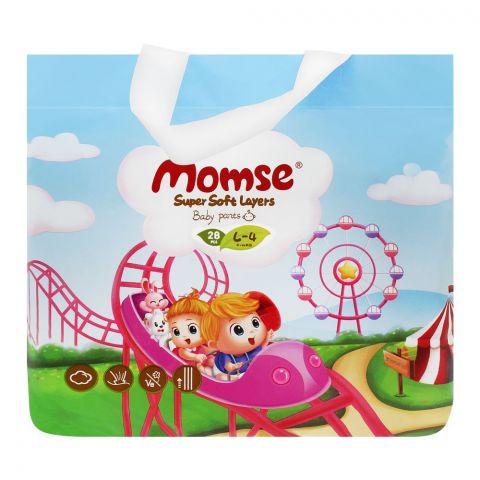 Momse Baby Pants, L-4, 9-14 KG, 28-pack