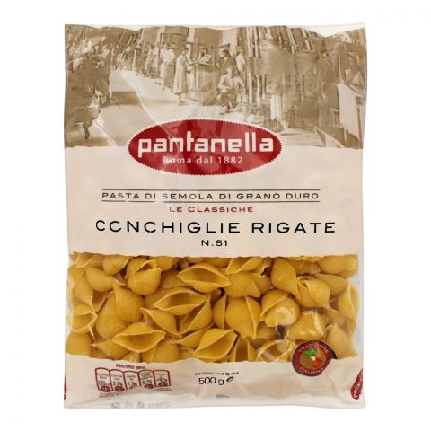 Pantanella Conchiglie Rigate Pasta, No. 51, 500g