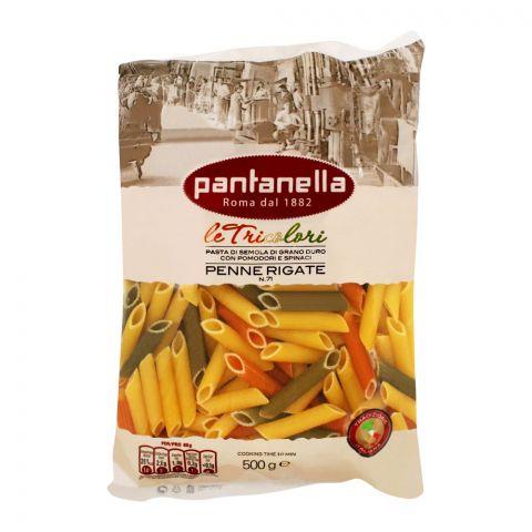 Pantanella Tricolor Penne Rigate Pasta, No. 71, 500g