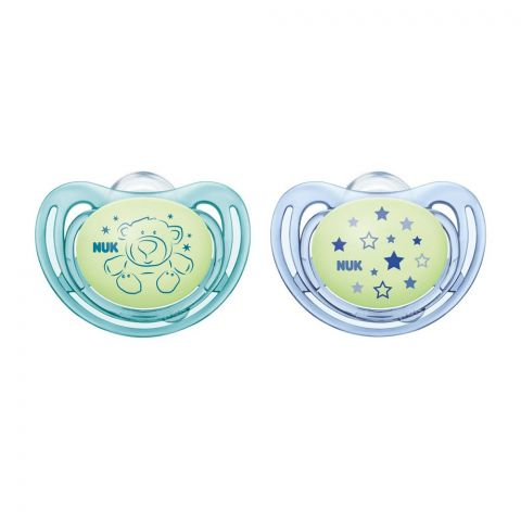 Nuk Freestyle Night Silicone Soother, 6-18m, 10736546