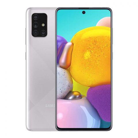 Samsung Galaxy A71 8GB/128GB Haze Crush Silver Smartphone, SM-A715F/DS