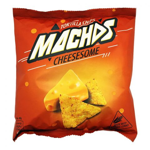 Macho's Cheesesome Tortilla Chips, 40g