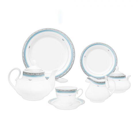 Cera-E-Noor Elegant Cinzia Blue Tea Set 24 Pieces, 611021