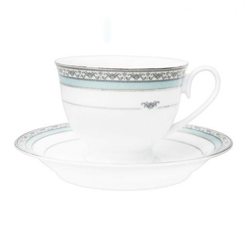 Cera-E-Noor Elegant Decorated Cinzia Green Tea Set, 12 Pieces, 611021