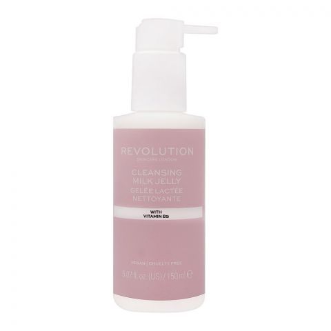 Makeup Revolution Cleansing Milk Jelly, With Vitamin B5, 150ml