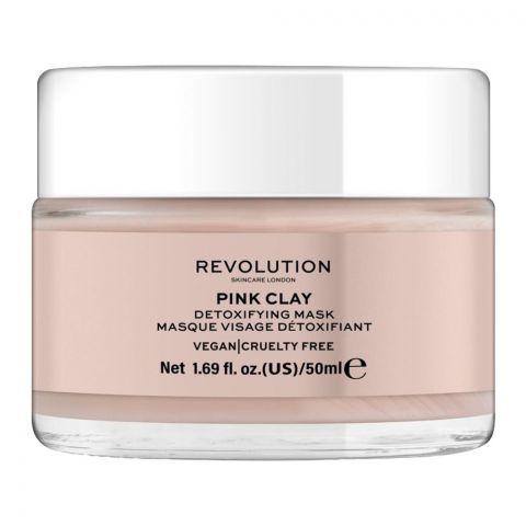 Makeup Revolution Pink Clay Detoxifying Mask, 50ml