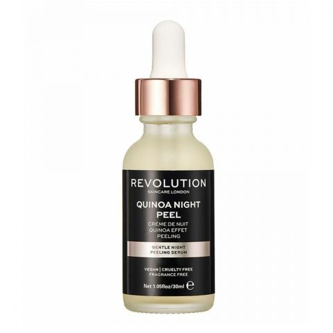Makeup Revolution Quinoa Gentle Night Peeling Serum, Fragrance Free, 30ml