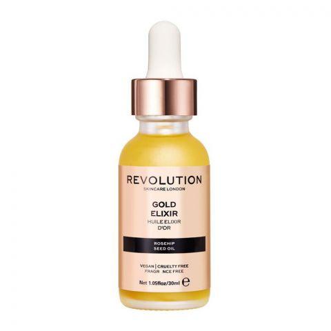 Makeup Revolution Gold Elixir Rosehip Oil, 30ml