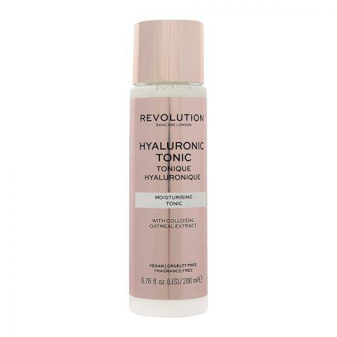 Makeup Revolution Hyaluronic Tonic, Fragrance Free, 200ml