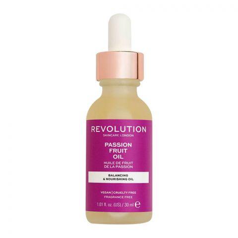 Makeup Revolution Passion Fruit Balancing & Nourishing Oil, Fragrance Free, 30ml