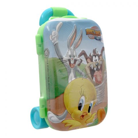 Looney Tunes Active Luggage Tin With Jelly Candies, 22801