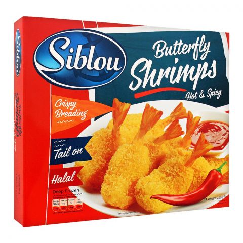 Siblou Butterfly Shrimps, Hot & Spicy, 250g